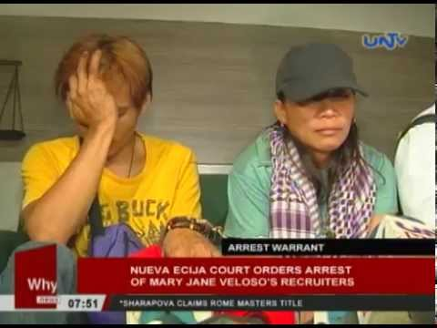 Nueva Ecija court orders arrest of Mary Jane Veloso's ...