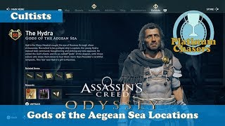 Gods of the Aegean Sea - Cultist Locations - Assassin's Creed: Odyssey