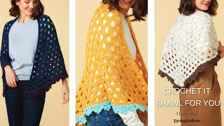 Crochet It Shawl For You || Free Crochet Shawl Pattern || Perfect Crochet Wrap Form The Office