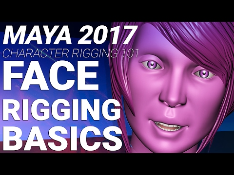 MAYA 2017 CHARACTER FACE RIGGING TUTORIAL – BASIC JOINTS AND SKINNING