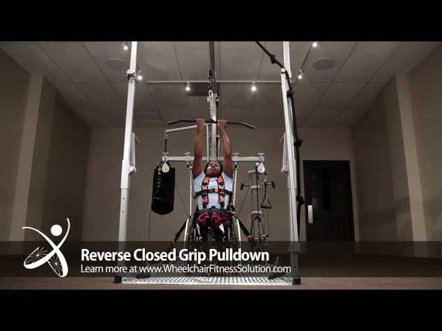 Wheelchair Fitness Solution | Exercise: Reverse Closed Grip Pulldown (32 of 40)