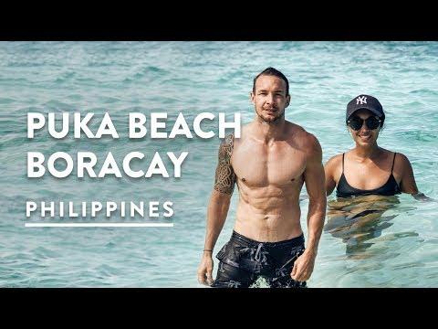 BEST BEACH IN BORACAY - PUKA SHELL BEACH | Philippines Travel Vlog 098, 2017