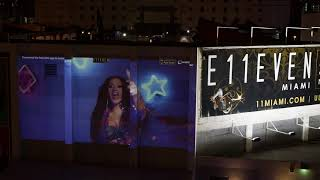 Cardi B I Like It Projection at E11EVEN MIAMI