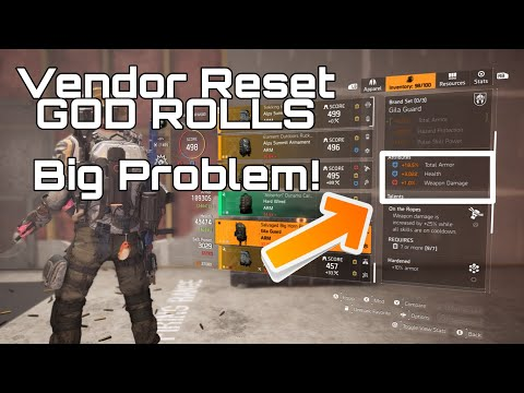 The Division 2 - VENDOR RESET (JULY 19 - 26/19) - Afflicted Gamer