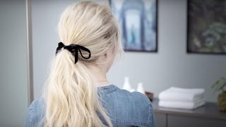 Aveda How-To | Romantic Ponytail with Dry Shampoo & Conditioner