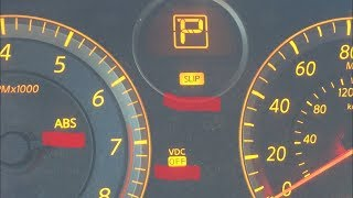 Turn OFF SLIP, VDC, ABS, lights Nissan Infiniti g35 350z mariano