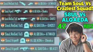 MortaL Meets The Most Craziest Squad | ALQAEDA Squad Vs MortaL | 42Kills | Viper Shifts To Full Gyro