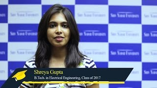 Shreya shares her most memorable Shiv Nadar University experience