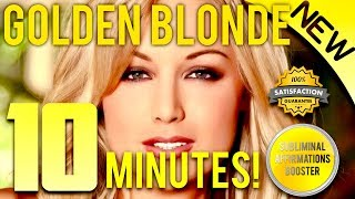 🎧GROW GOLDEN BLONDE HAIR IN 10 MINUTES! - SUBLIMINAL AFFIRMATIONS BOOSTER - REAL RESULTS DAILY