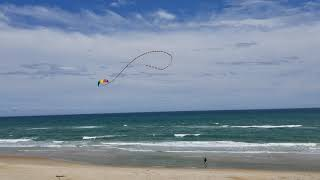 Kite Flying in the surf of the Outer Banks North Carolina