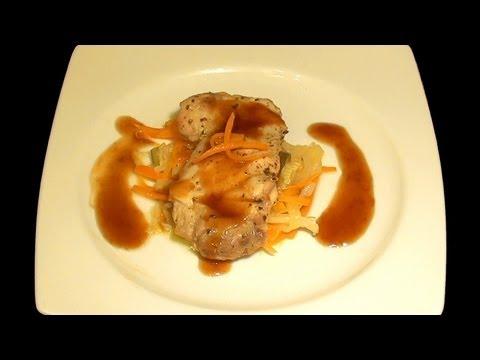 Pollo con verduras en papillote