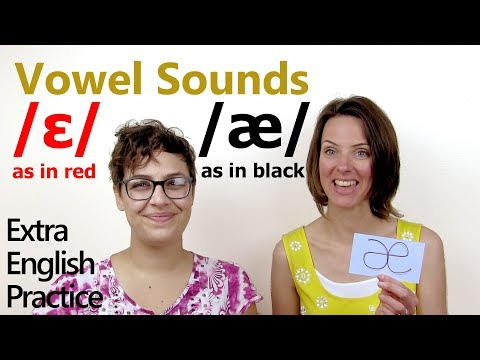 Pronounce short E and short A vowel sounds (red and black)