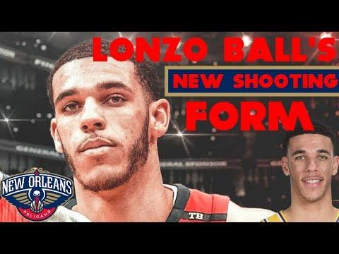 Lonzo Ball's New Shooting Form | ORIGINAL SUMMER VIDEO!