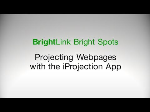 How To: Project Webpages with the iProjection App
