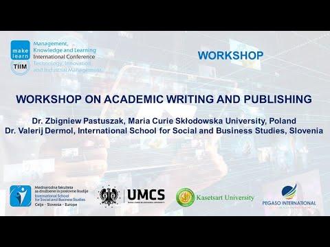 Workshop on academic writting and publishing