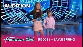 Layle Spring: A SWEET Country Girl and Her Cuttest Little Sister WOW The Judges | American Idol 2018