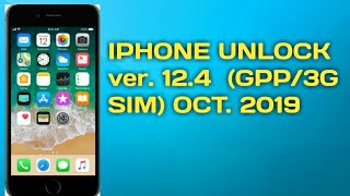 Iphone unlock using gpp & 3g sim
