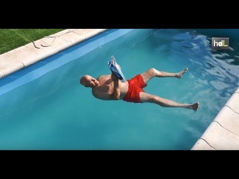 El agua flotante: un invento para evitar ahogamientos en la piscina