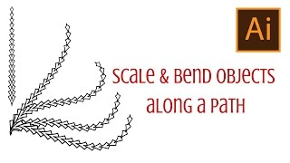 Illustrator - Scale and Bend Shapes along a Path - Get them to Point in the Right Direction