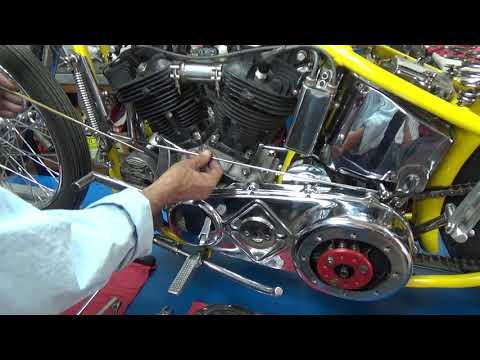 Old Harley Davidson Mousetrap (Clutch Booster) adjustment.