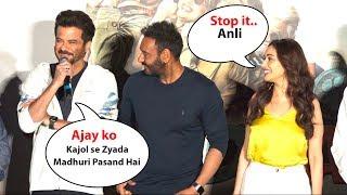 LOL Anil Kapoor Makes Fun of Ajay Devgan And Madhuri Dixit Total Dhamaal Trailer Launch