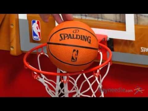 Spalding NBA Slam Jam Over-The-Door Mini Hoop - Product Review Video