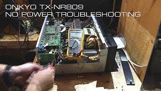 Onkyo TX-NR809 No Power Troubleshooting