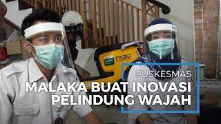 APD Terbatas, Petugas Puskesmas Kelurahan Malaka Sari Buat Pelindung Wajah Sendiri