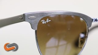 Ray-Ban RB3016M Wood Clubmaster 51 Eyesize