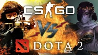 Рэп Баттл - Counter-Strike: Global Offensive vs. Dota 2