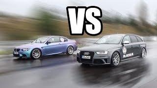 BMW M3 E92 vs Audi RS4 - RACE!