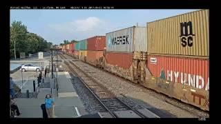 MONSTER 16,000 Foot Eastbound Intermodal Train In La Plata, MO