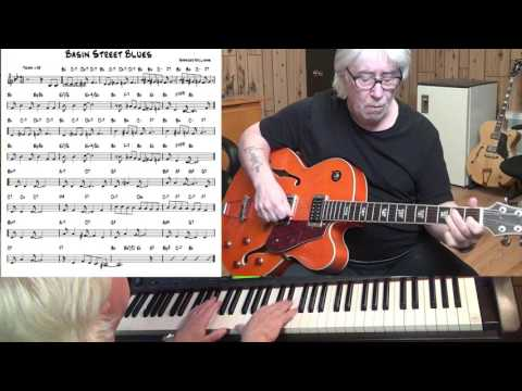 Basin Street Blues - Jazz guitar & piano cover ( Spencer Williams )