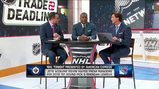 NHL Tonight: Hayes-Trade Part 1: The Crew On The Impact Of The Jets Adding Kevin Hayes  Feb 25,  201