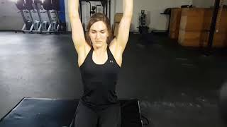 Kamloops Chiropractor | Movement Demo | Dual Bottoms Up Seated KB Press