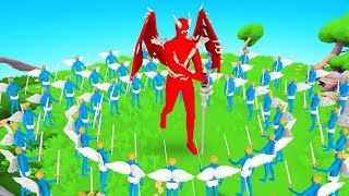 ANGELS VS DEMON In Totally Accurate Battle Simulator!