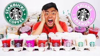I Ordered Every Drink From STARBUCKS (Pinkity Drinkity)