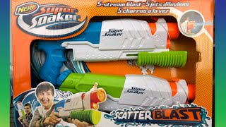 Pool Toy Review! Nerf Super Soaker Scatter Blasters!