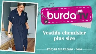 burda na TV 77 – Vestido chemisier plus size