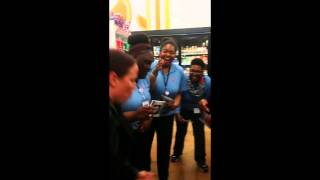 Crazy fast female rapper at Walgreens.. Watch what happens!