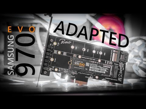 Installing the Samsung 970 EVO SSD with a PCIe M.2 Adapter Card