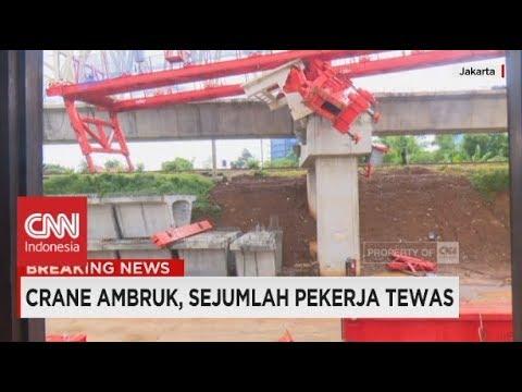 Crane Ambruk di Jatinegara, Jakarta, 4 Orang Tewas