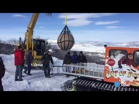 Detonating the biggest firework ever launched in North America!