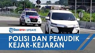 Viral Video Mobil Terobos Pos Penyekatan, Kejar-kejaran dengan Polisi dan Nyaris Tabrak Petugas