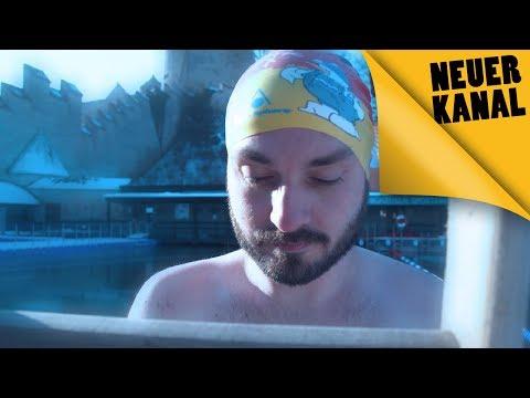 """Challenge """"Das schaffst du nie"""": Überlebe 100 Meter Eisschwimmen!"""