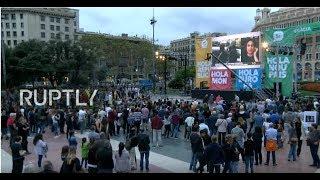 LIVE: Barcelonans gather to follow referendum results