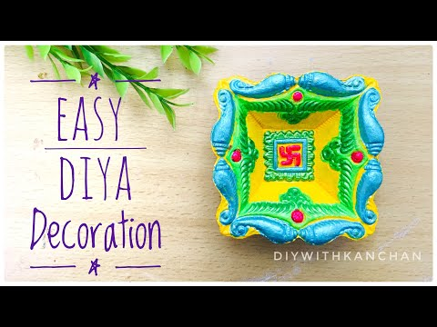 How To Decorate Diya For Diwali