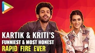 Kartik Aaryan & Kriti Sanon's SUPERB Rapid Fire On Shah Rukh Khan, Salman Khan, Akshay, Madhuri