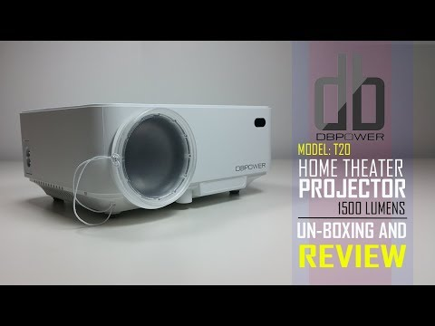 DBPOWER T20 1500 Lumens LED Video Projector Review