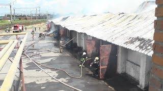 м.Жмеринка: рятувальники ліквідували пожежу на одному із підприємств